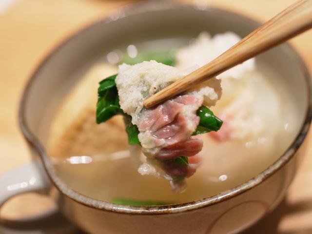 大根と絹豆腐と湯かけ04
